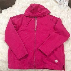 Pink Glam Sparkle Hoodie